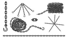 Grupo Chain do vetor do gancho Foto de Stock