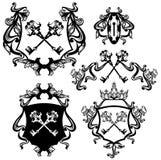 Grupo chave da heráldica ilustração royalty free