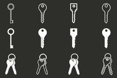 Grupo chave do ícone Imagem de Stock