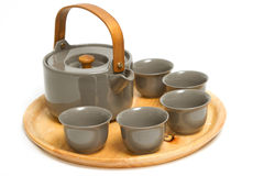 Grupo chinês da cerimônia de chá Imagens de Stock Royalty Free