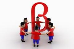Grupo circundado forma de los muchachos en Beta Symbol Fotos de archivo