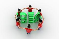 Grupo circundado forma de Young Boys en idea Imagen de archivo libre de regalías
