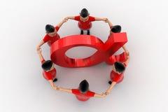 Grupo circundado forma fresca de los muchachos en Alpha Symbol Fotografía de archivo
