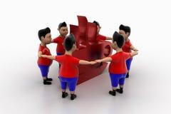 Grupo circundado forma fresca de los muchachos en el símbolo de Coffe Foto de archivo