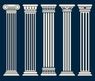 Grupo clássico do vetor das colunas da arquitetura romana, grega Fotos de Stock
