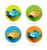 Grupo, coleção, grupo de quatro, moderno, colorida ilustração do vetor