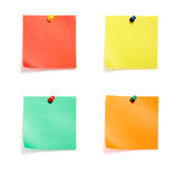 Grupo coloreado notas Fotos de archivo