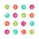 Grupo colorido café do ícone Imagens de Stock