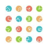 Grupo colorido casa do ícone Imagem de Stock