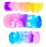 Grupo colorido da aquarela Imagens de Stock