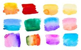 Grupo colorido da aquarela Imagem de Stock