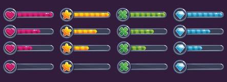 Grupo colorido da barra do progresso, ilustração do vetor ilustração royalty free