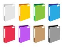 Grupo colorido da ilustração de ícones do dobrador do escritório ilustração stock