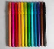 Grupo colorido da pena de ponta de feltro dng Imagens de Stock