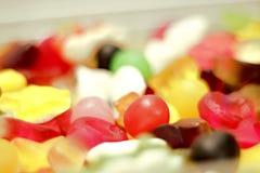 Grupo colorido de cierre del caramelo para arriba fotografía de archivo libre de regalías