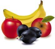 Grupo colorido de fruta fresca. Imagenes de archivo