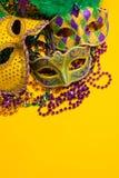 Grupo colorido de Mardi Gras o de máscaras venecianas Fotos de archivo libres de regalías