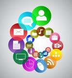 Grupo colorido do ícone Imagem de Stock
