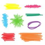 Grupo colorido do marcador do highlighter ilustração stock