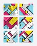 Grupo colorido do pop art Imagem de Stock