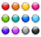 Grupo colorido do projeto dos botões da Web Imagem de Stock