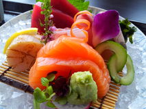 Grupo colorido do Sashimi Imagem de Stock Royalty Free