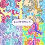 Grupo colorido do teste padrão da textura do vetor Foto de Stock