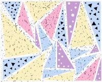 Grupo colorido do teste padrão do sumário geométrico multi de detalhes do fundo ilustração stock