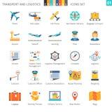 Grupo colorido 01 do transporte Foto de Stock