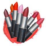 Grupo colorido dos batons da cor Imagens de Stock Royalty Free