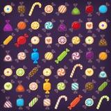 Grupo colorido dos doces Fotos de Stock Royalty Free