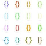 Grupo colorido encaracolado do ícone do suporte Imagens de Stock Royalty Free