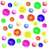 Grupo colorido floral do fundo do teste padrão Fotografia de Stock