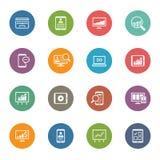 Grupo colorido plano do ícone Foto de Stock