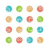 Grupo colorido sistema do ícone Imagens de Stock