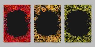 Grupo colorido sumário do fundo do molde do folheto Imagens de Stock Royalty Free