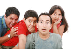 Grupo com um olhar muito surpreendido Imagem de Stock Royalty Free