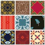 Grupo combinado da coleção do teste padrão retro antigo oriental do azulejo ilustração royalty free