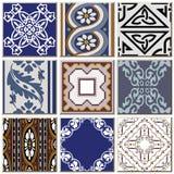 Grupo combinado da coleção do teste padrão retro antigo oriental do azulejo ilustração do vetor