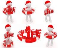 Grupo. Conceito do salvamento com ilustração de 3d man.3d Imagem de Stock Royalty Free