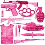 Grupo cor-de-rosa da arma Imagens de Stock Royalty Free