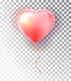 Grupo cor-de-rosa do coração do balão Símbolo do amor Presente Dia do Valentim s Objeto 3d realístico do vetor Objeto isolado do  Imagens de Stock