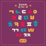 Grupo coreano do alfabeto Imagem de Stock