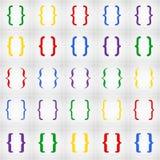 Grupo criativo abstrato do ícone do vetor do conceito de suporte encaracolado para a Web e aplicações móveis isolado no fundo Art Foto de Stock