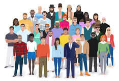 Grupo criativo de povos diferentes, ilustração do vetor Fotografia de Stock
