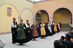 Grupo croata da dança no festival cultural Fotos de Stock