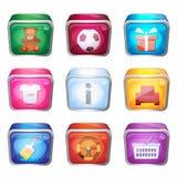 grupo 3d de ícones Imagem de Stock Royalty Free