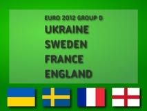 Grupo D del euro 2012 Foto de archivo libre de regalías
