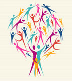 Grupo da árvore das cores do ser humano da diversidade Imagem de Stock Royalty Free