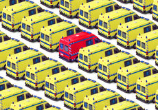 Grupo da ambulância Fotos de Stock